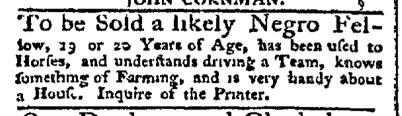 Sep 14 - Pennsylvania Chronicle Slavery 2