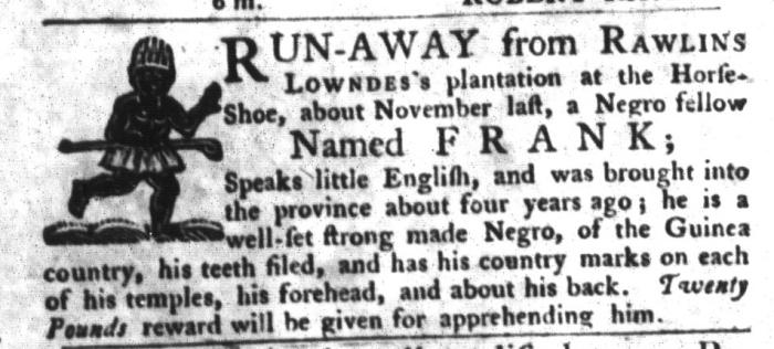Sep 15 - South-Carolina Gazette and Country Journal Slavery 6