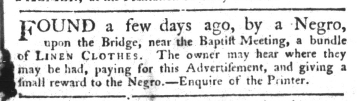 Sep 15 - South-Carolina Gazette and Country Journal Supplement Slavery 1