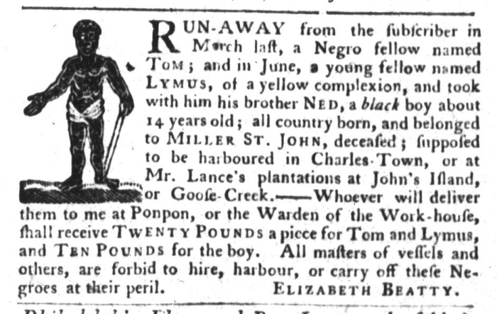Sep 15 - South-Carolina Gazette and Country Journal Supplement Slavery 2