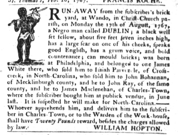 Sep 15 - South-Carolina Gazette and Country Journal Supplement Slavery 5