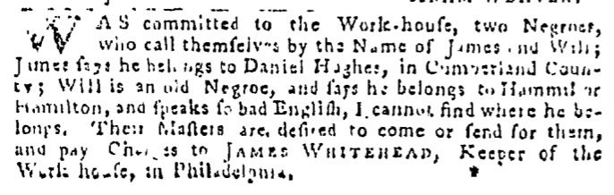 Sep 17 - Pennsylvania Gazette Slavery 2