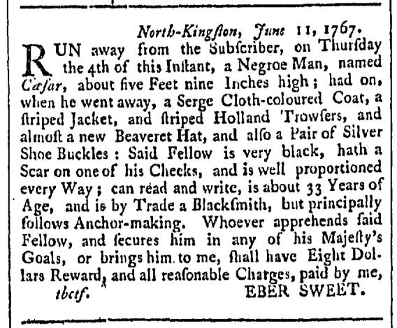 Sep 19 - Providence Gazette Slavery 2