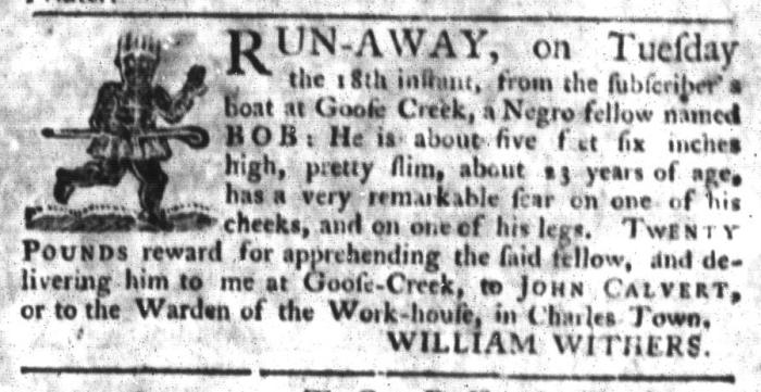 Sep 22 - South-Carolina Gazette and Country Journal Slavery 6