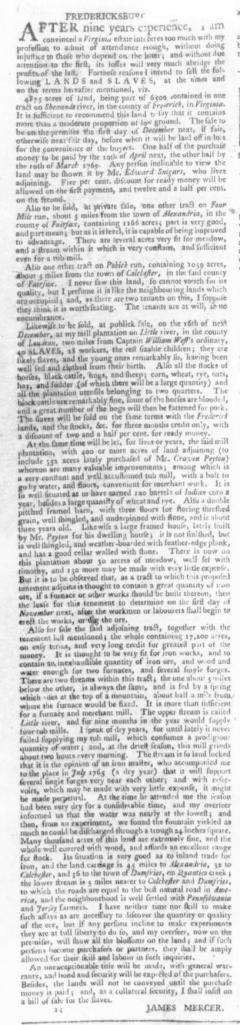 Sep 24 - Virginia Gazette Slavery 10