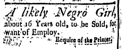 Sep 25 - New-London Gazette Slavery 1