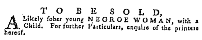 Sep 3 - Pennsylvania Gazette Supplement Slavery 2