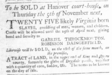Sep 3 - Virginia Gazette Slavery 2