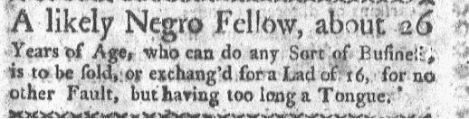 Sep 7 - Boston-Gazette Slavery 2