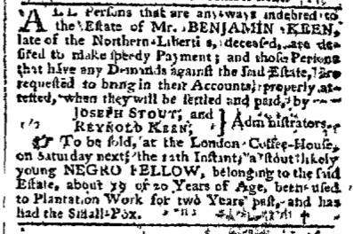 Sep 7 - Pennsylvania Chronicle Slavery 2