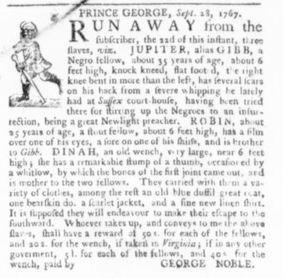 Oct 1 - Virginia Gazette Slavery 2