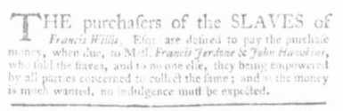 Oct 1 - Virginia Gazette Slavery 5