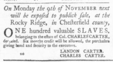 Oct 1 - Virginia Gazette Slavery 8