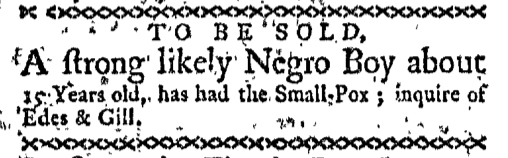 Oct 12 - Boston-Gazette Supplement Slavery 1