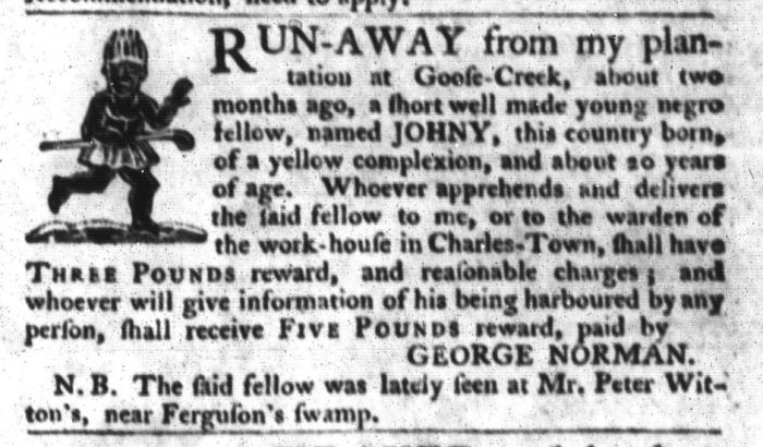 Oct 13 - South-Carolina Gazette and Country Journal Slavery 2