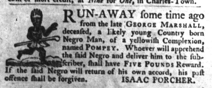 Oct 13 - South-Carolina Gazette and Country Journal Slavery 6