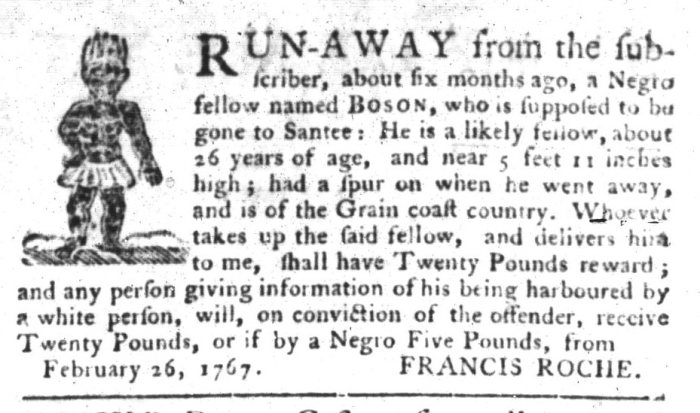 Oct 13 - South-Carolina Gazette and Country Journal Supplement Slavery 5