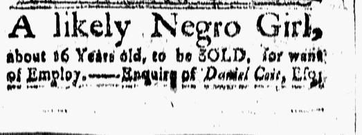 Oct 2 - New-London Gazette Slavery 1