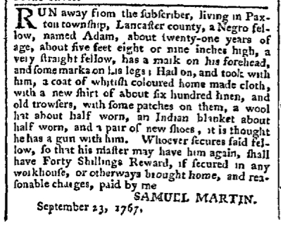 Oct 5 - Pennsylvania Chronicle Slavery 1