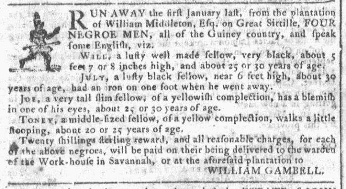Oct 7 - Georgia Gazette Slavery 2