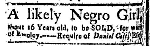 Oct 9 - New-London Gazette Slavery 1