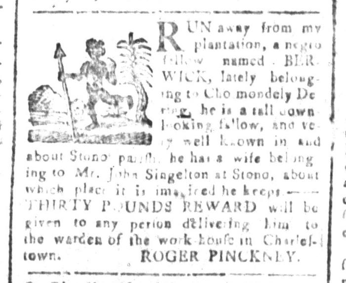 Oct 9 - South-Carolina and American General Gazette Slavery 4