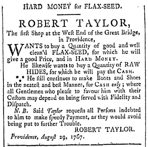 Sep 26 - 9:26:1767 Providence Gazette