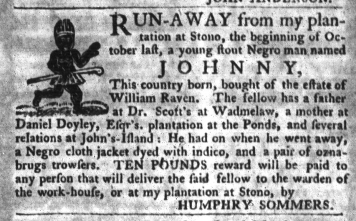 Nov 10 - South-Carolina Gazette and Country Journal Slavery 2