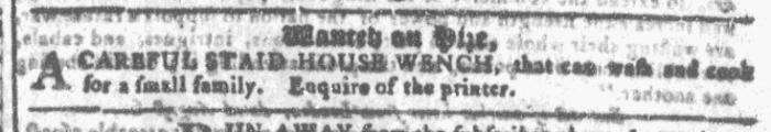 Nov 11 - Georgia Gazette Slavery 1