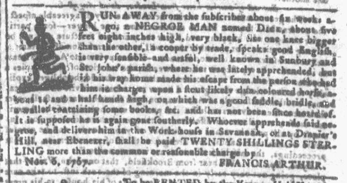 Nov 11 - Georgia Gazette Slavery 2