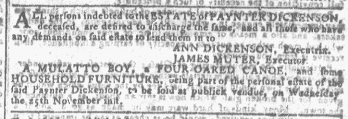 Nov 11 - Georgia Gazette Slavery 8