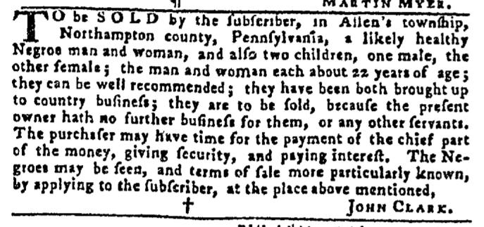 Nov 12 - Pennsylvania Gazette Slavery 5