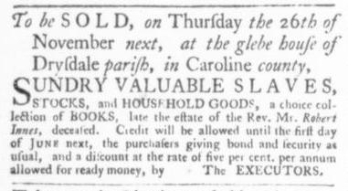 Nov 12 - Virginia Gazette Slavery 8