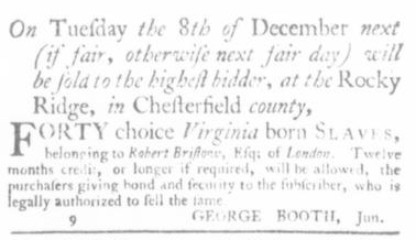 Nov 12 - Virginia Gazette Slavery 9