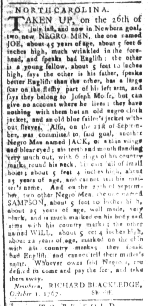 Nov 13 - South-Carolina and American General Gazette Slavery 5