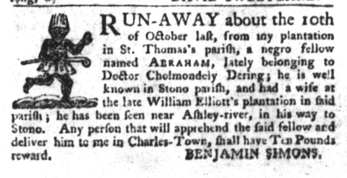 Nov 17 - South-Carolina Gazette and Country Journal Slavery 3