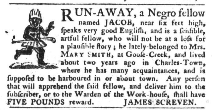 Nov 17 - South-Carolina Gazette and Country Journal Slavery 7