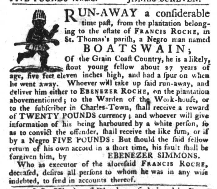 Nov 17 - South-Carolina Gazette and Country Journal Slavery 8