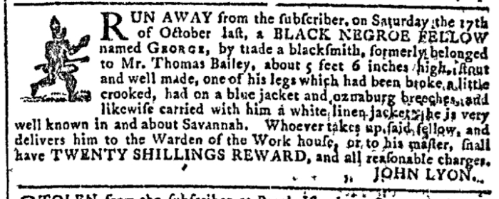 Nov 4 - Georgia Gazette Slavery 2