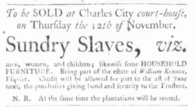 Nov 5 - Virginia Gazette Slavery 5