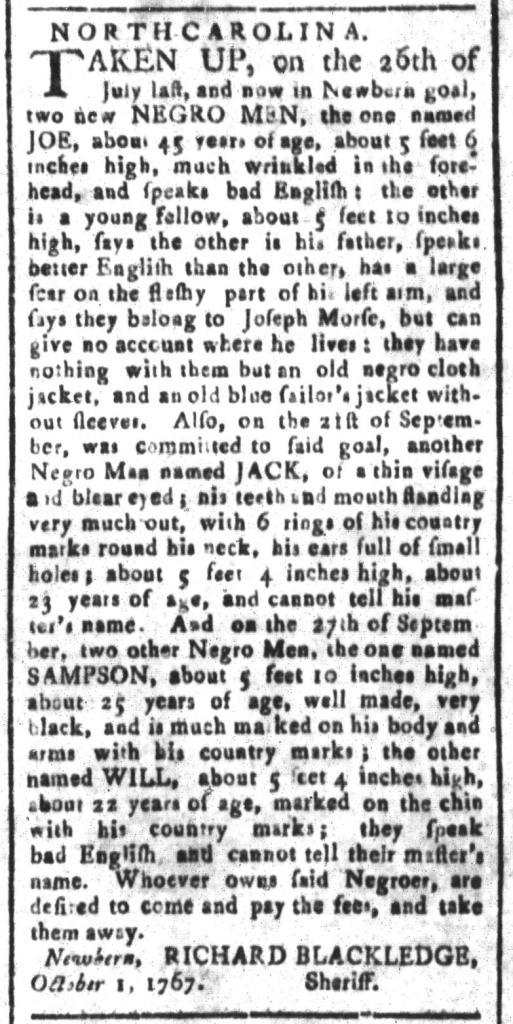 Nov 6 - South-Carolina and American General Gazette Slavery 5