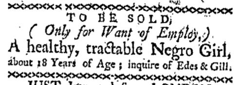 Nov 9 - Boston Gazette Supplement Slavery 1