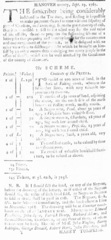 Oct 1 - Virginia Gazette Slavery 10