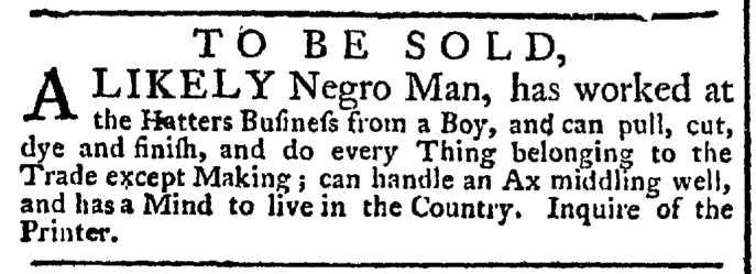 Oct 15 - New-York Gazette Weekly Post-Boy Slavery 1