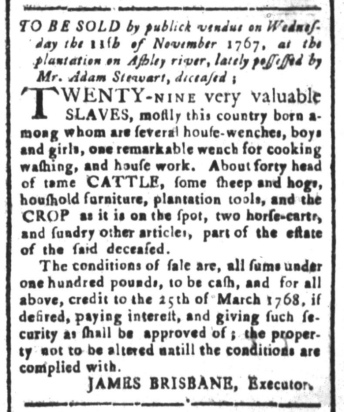 Oct 16 - South-Carolina and American General Gazette Slavery 2