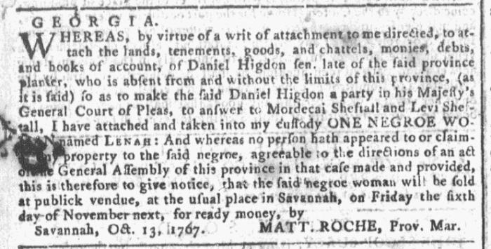 Oct 21 - Georgia Gazette Slavery 2