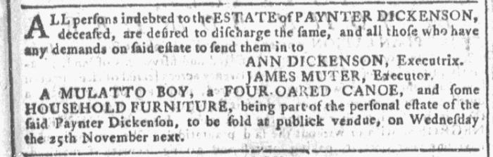 Oct 21 - Georgia Gazette Slavery 3