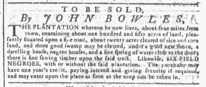 Oct 21 - Georgia Gazette Slavery Slavery 12