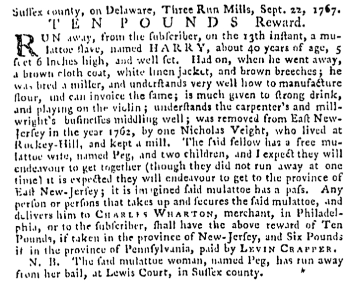 Oct 22 - Pennsylvania Gazette Supplement Slavery 2