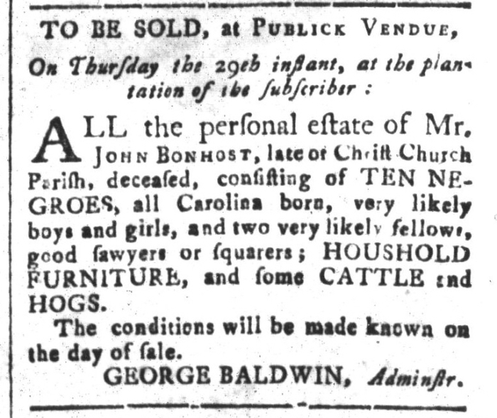 Oct 23 - South-Carolina and American General Gazette Slavery 11